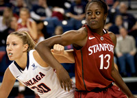 Stephanie Golden and Chiney Ogwumike arm for position | Gonzaga v Stanford | 12/2/12
