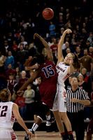 Shelby Cheslek and Emily Ben-Jumbo tip off | Gonzaga v LMU | 1/31/13