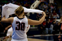 Gonzaga's Stephanie Golden entering the game