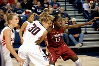 Stephanie Golden and Chiney Ogwumike battle for position | Gonzaga v Stanford | 12/2/12